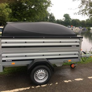 Brenderup 1205s double height trailer with ABS lid & jockey wheel